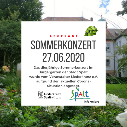 Sommerkonzert abgesagt