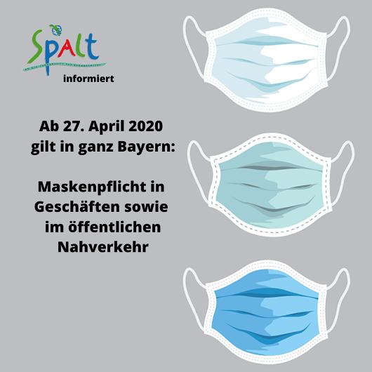 Maskenpflicht ab 27.04.2020